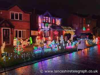Oswaldtwistle street like Blackpool Illuminations for charity