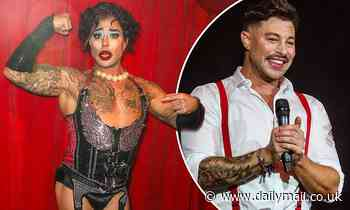 Blue singer Duncan James looks unrecognisable as he performs in drag at cabaret event