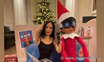 David Beckham digs out wife Victoria's Posh Spice doll for latest Elf On A Shelf scenario