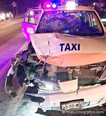 ¡Mortal accidente contra taxi en Las Varas! - Matutino grafico - Matutino Grafico