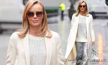 Amanda Holden looks effortlessly chic as she leaves Heart FM