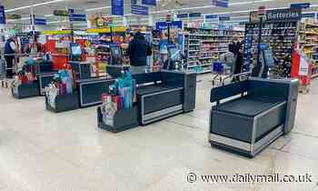 Tesco is trialling new self-service checkouts for customers using trollies