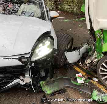 'Someone could get killed if we don't get something' Porsche and van collide on Blackburn road
