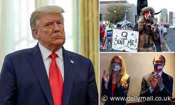 Donald Trump defends QAnon conspiracy theorists at meeting