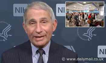 Fauci warns US 'has not yet seen post-Thanksgiving peak' as data reveals people traveled for holiday