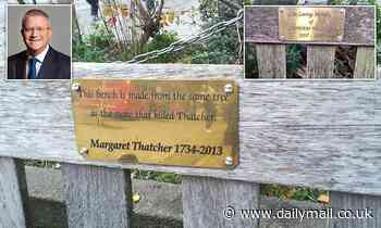 Outrage as mystery prankster sets up memorial bench mocking the death of Margaret Thatcher