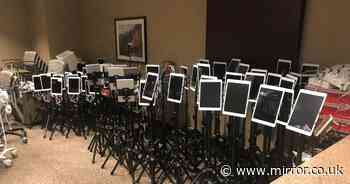 Haunting pic of iPads used by loved ones to say goodbye to dying Covid patients
