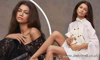 Zendaya flashes her legs and takes the plunge in lace as she is announced new face of Valentino