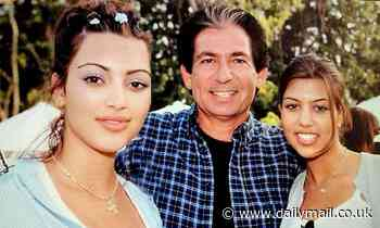 Kim Kardashian is peak 90s in a throwback snap with sister Kourtney and father Robert Kardashian