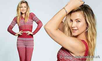 Kate Hudson gets into the holiday spirit in an Instagram post to promote her brand Fabletics