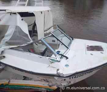 Transbordador destruye lancha ambulancia en Soplaviento - El Universal - Colombia