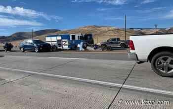 Emergency Crews Respond to Crash on I-80 Near Mustang