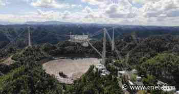 Watch unreal drone footage of Arecibo Observatory's catastrophic collapse     - CNET