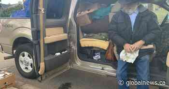 Overwhelming response to homeless B.C. senior living in his pickup truck