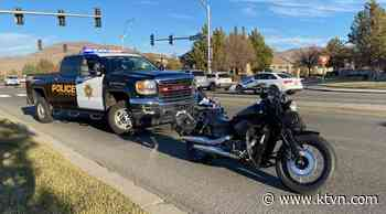 Motorcyclist Taken To Hospital After Crash Near Double Diamond Parkway And South Meadows Parkway