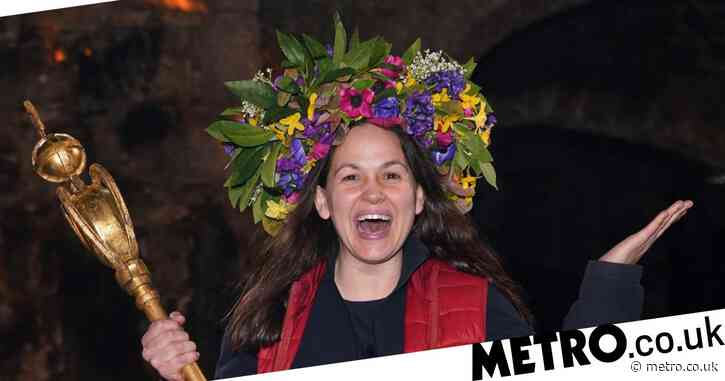 I'm A Celebrity 2020: Giovanna Fletcher congratulated by AJ Pritchard and Beverley Callard on becoming Queen of the Castle