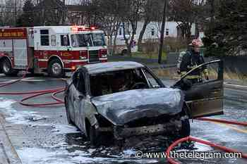 Car destroyed by fire in Conception Bay South accident - The Telegram