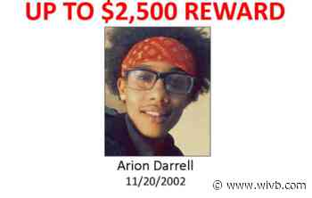 Crime Stoppers offering up to $2,500 for the arrest of 18-year-old Arion Darrell