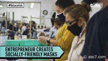 Young entrepreneur designs socially-friendly face masks - KABC-TV