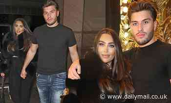 Lauren Goodger looks stunning in black fur jacket as she enjoys a night out in London