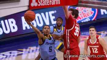 WATCH: Marquette upsets in-state rival No. 4 Wisconsin on freshman Justin Lewis' tip-in at the buzzer