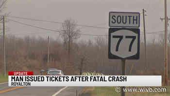 Daniel Verratti issued traffic tickets in fatal Royalton crash