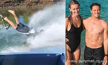 Keenan Deery from Queensland shows off incredible barefooting skills while waterskiing