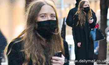 Mary-Kate Olsen dons a chic all-black outfit and purse while stepping out in chilly New York City