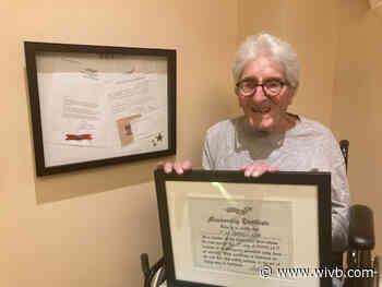 Buffalo WWII Veteran receives prestigious 'Caterpillar Pin'