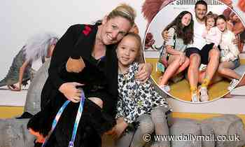 Fifi Box and daughter Trixie Belle enjoy a day out at the movies with Brendan Fevola and his girls