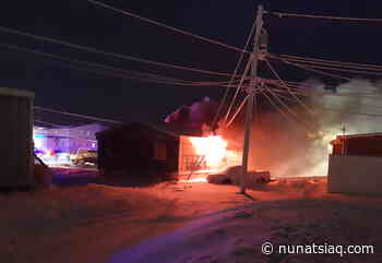 Cambridge Bay firefighters unable to save house consumed by fire - Nunatsiaq News