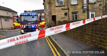 Three injured as house explosion sparks blaze and forces neighbours to flee