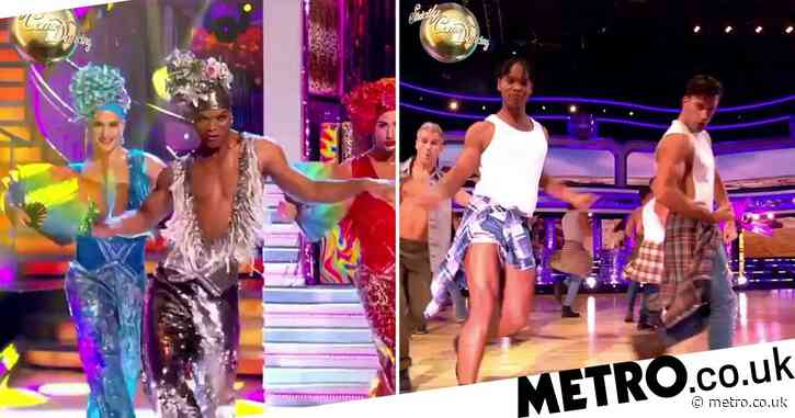 Strictly's Giovanni, Gorka and Johannes perform in drag for spectacular Musicals Week teaser