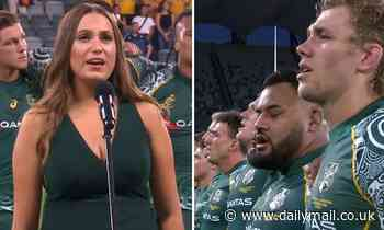 Wiradjuri singer performs 'best Australian national anthem' by singing in Eora language then English