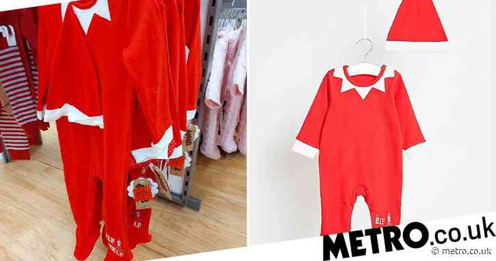 Asda is selling Elf on the Shelf sleep suits with hats for just £3