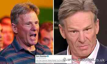 Sam Newman says he 'could not give a stuff' that he's been banned from Twitter after attack on a fan
