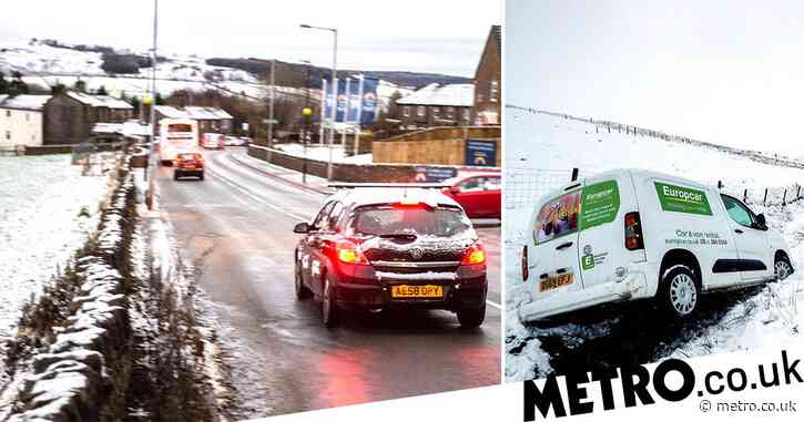 Drivers warned of icy conditions for days as UK's cold snap continues