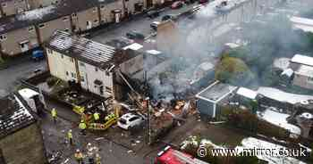 Dramatic images show scale of devastation as explosion levels family's house