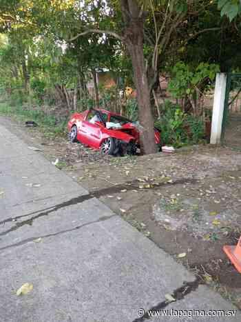 Accidente de tránsito en el cantón Santa Cruz Porrillo, en Tecoluca deja dos fallecidos y tres personas lesionadas - Diario La Página