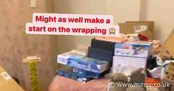 Mum-of-22 Sue Radford starts epic Christmas wrapping with £5k worth of presents