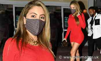 Larsa Pippen slips into skintight red mini dress for dinner out in Miami amid Malik Beasley drama