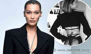 Bella Hadid puts on VERY cheeky display in see-through trousers in BTS throwbacks ffrom PFW