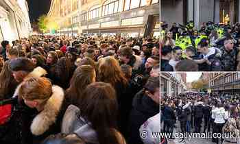 Hundreds of young people try to enter Harrods in chaotic scenes as police make four arrests
