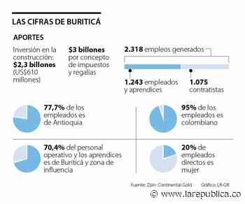 Buriticá generará $3 billones en impuestos y regalías a la Nación durante 14 años - La República
