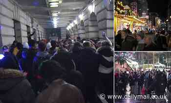 Police break up huge party at Christmas market in Nottingham