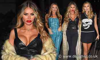 TOWIE's Chloe Sims puts on a busty display on a night out with sisters Frankie and Demi
