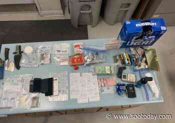Two charged after OPP seize drugs, weapons near Chapleau (4 photos) - SooToday
