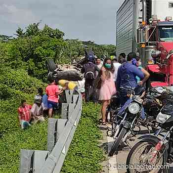 Accidente en el sector El Limón, en el municipio de Cicuco Bolívar - Diario La Libertad