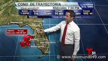 Eta se acerca a la costa oeste de Florida - Telemundo 49