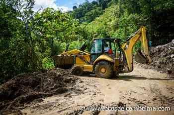 Con maquinaria de la Gobernación y Cortolima se recuperó vía Rioblanco - Puerto Saldaña - Ecos del Combeima